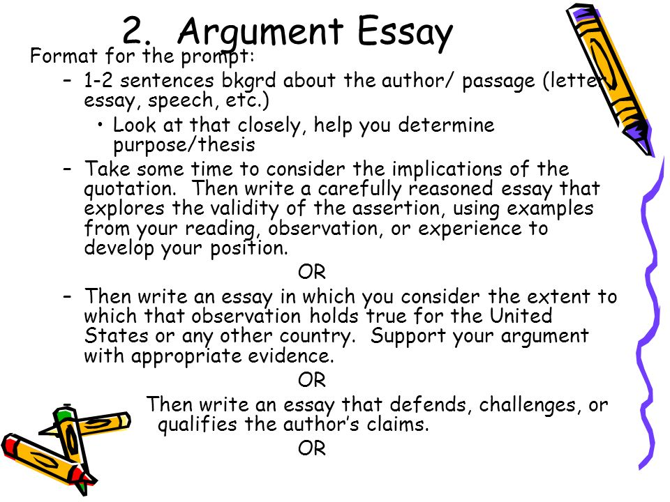 Causal argument essay