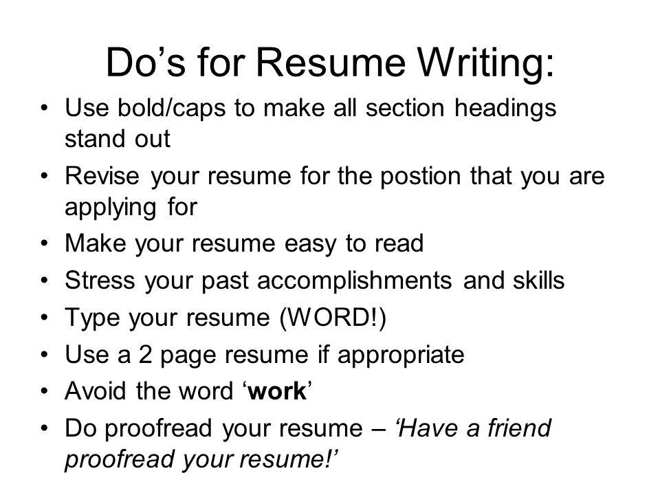 Write my make resumes