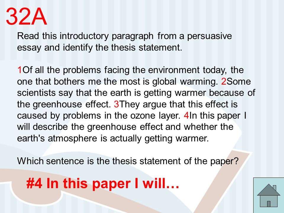 Global warming persuasive essay