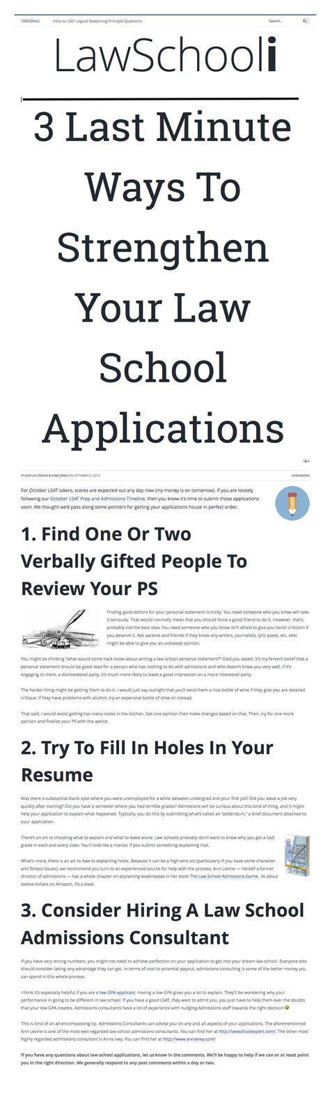 Sample law school application essays