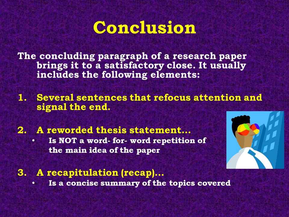 How to write a good conclusion paragraph for a research