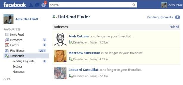 Dating unfriend facebook