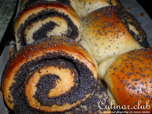 Маковые булочки рецепт с фото