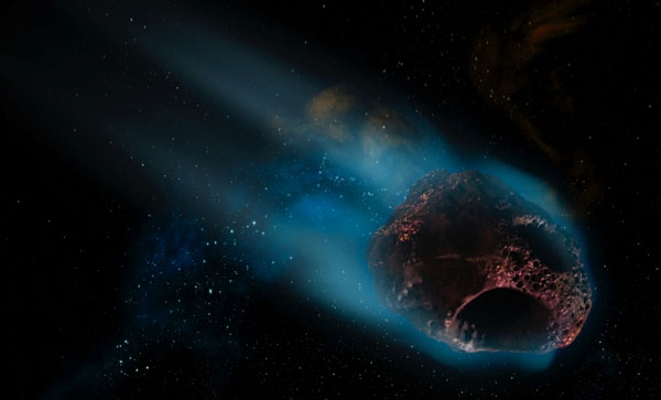 Asteroid impact hypothesis