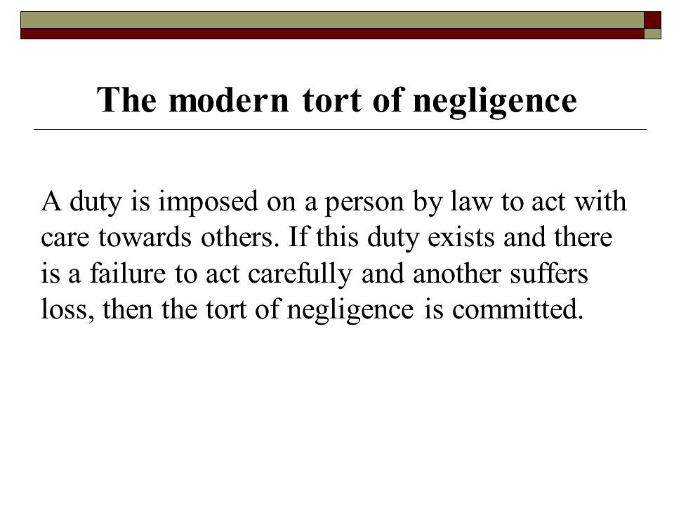 Essays on negligence