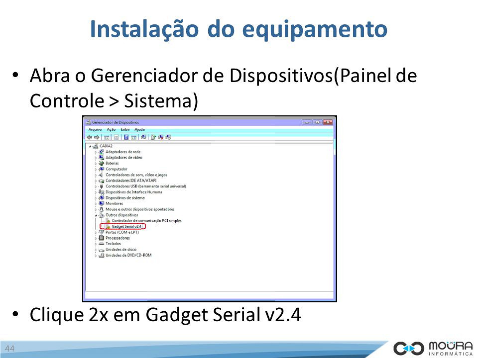 63- Installing gadget serial driver for Remote control