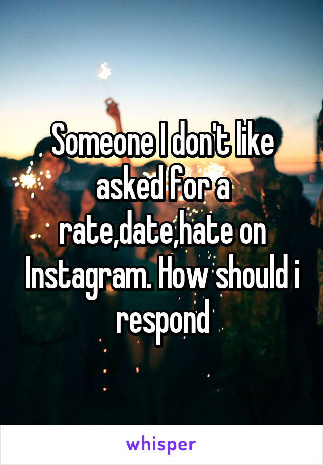 Instagram dating rates