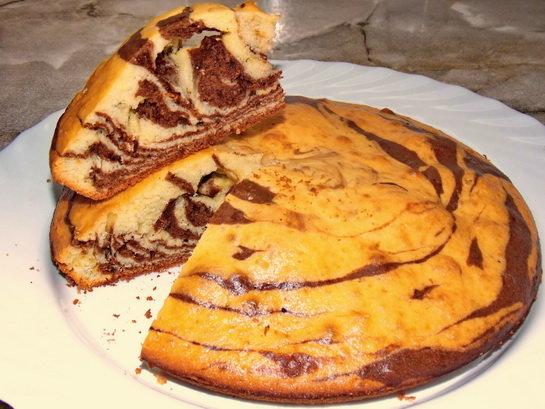 Быстрый рецепт пирога зебра