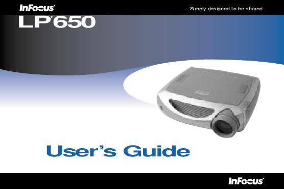Infocus lp 500 service manual