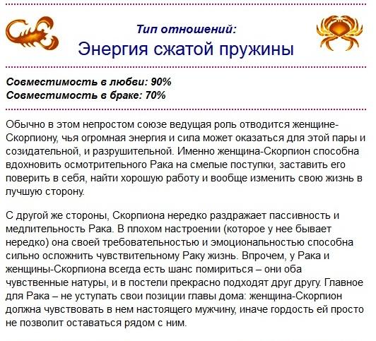 Гороскоп совместимость мужчи  водолей женщи  скорпион в
