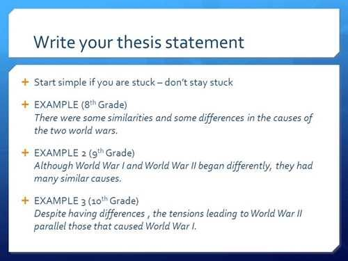 Thesis Statement Generator - Kibin