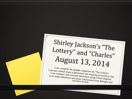 Shirley Jackson and - North Bennington