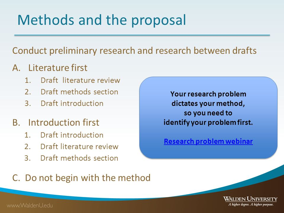 how to write the research problem