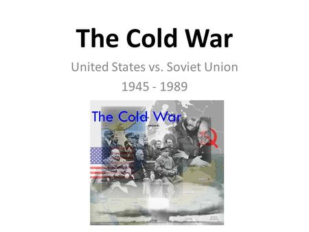 Cold war research papers