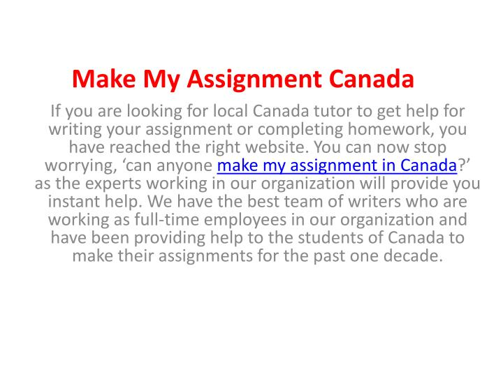 Write my assignment experts