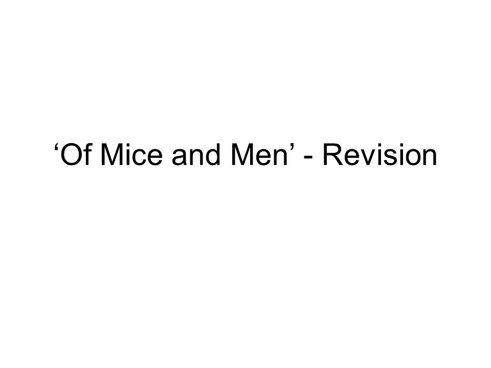 Write my thesis for of mice and men