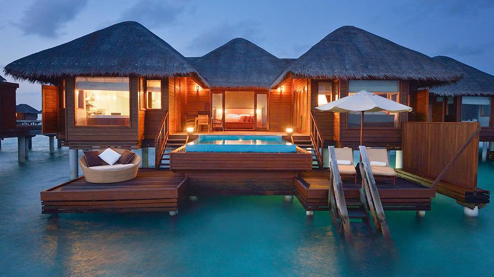 мальдивы отели с бунгало на воде