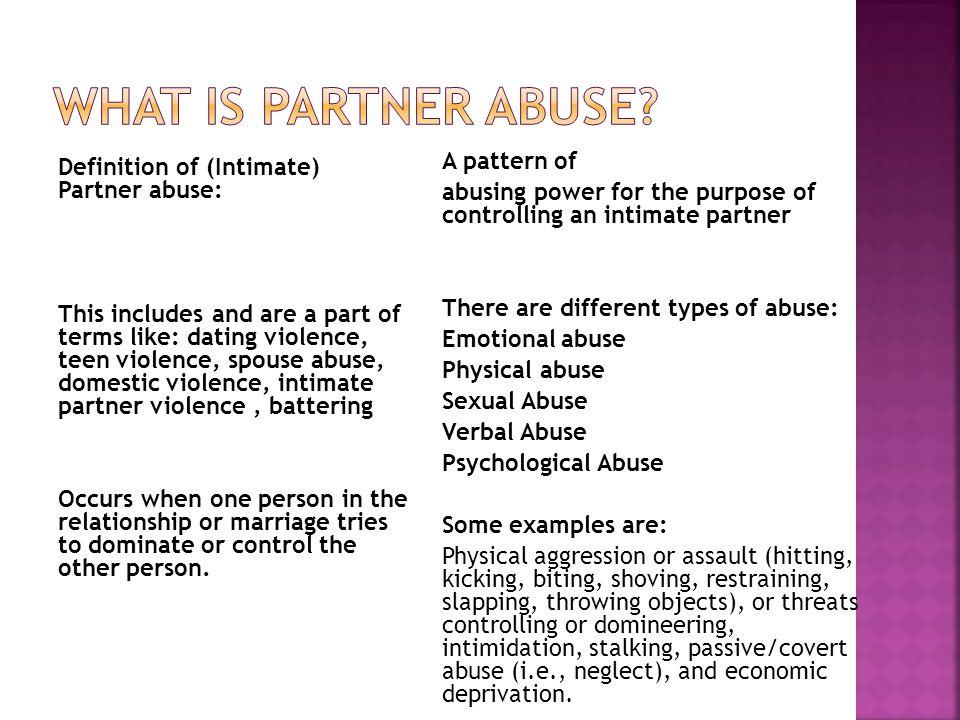 Forskellige typer dating misbrug