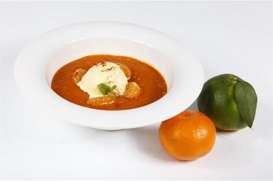 Ресторан Saperavi Café - фотография 33 - Суп из мандаринов, декабрь 2012-январь 2013