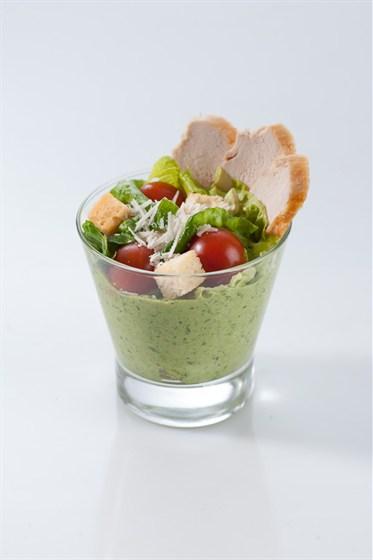 Ресторан Очень домашнее кафе - фотография 10 - Новинка летнего меню крем-салаты.