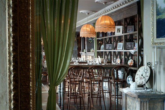 """Ресторан Снегири - фотография 2 - Интерьер """"Снегири"""" Покровка"""