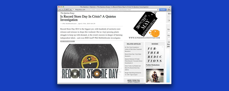 День музыкального магазина: уже кризис