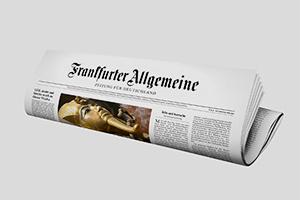 Frankfurter Allgemeine Zeitung — редкий пример общенациональной газеты в Германии (тираж — 382000)
