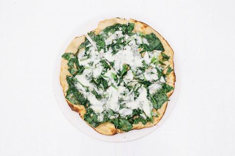 Пицца с шпинатом