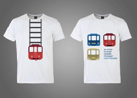 Студенты решили написать на футболках простые факты о работе метро