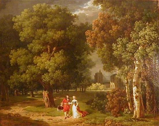 Ипполит Лекомт. Вид Венсенского замка