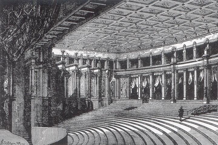 Зал Байройтского фестивального театра в 1870-е годы