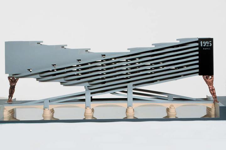 Модель здания, построенного по модели «Лаборатории сна» (или «Сонной Сонаты») Константина Мельникова