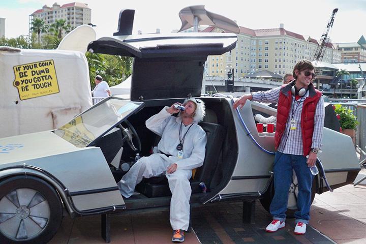 Победитель венского FG-2012 – DeLorean из фильма «Назад в будущее». Как говорил его владелец Эммет Браун, почему бы машине времени не быть стильной