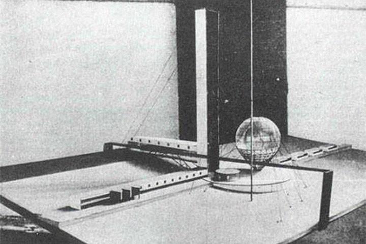 Проект Института библиотековедения имени Ленина на Ленинских горах архитектора Ивана Леонидова