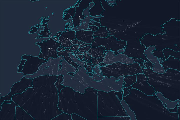 Карта передвижений беженцев