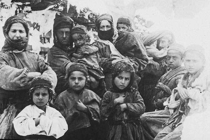 Армянские беженцы. Место съемки не установлено