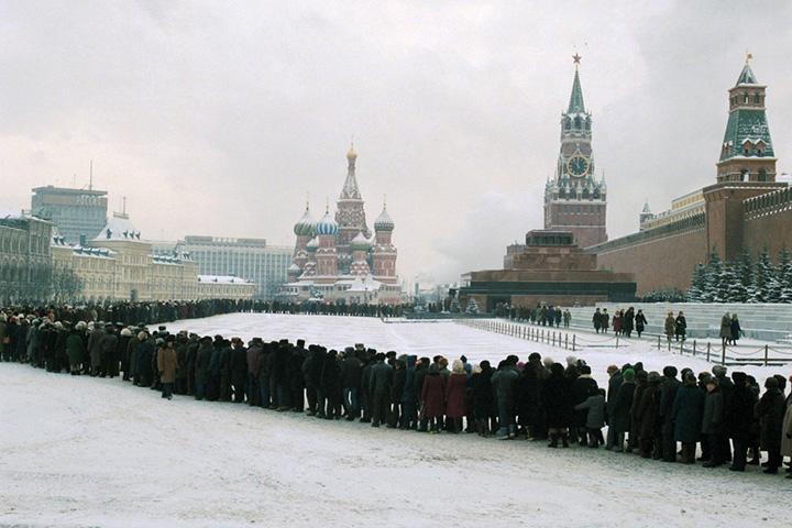 Очередь в Мавзолей В.И.Ленина, 1960-е годы