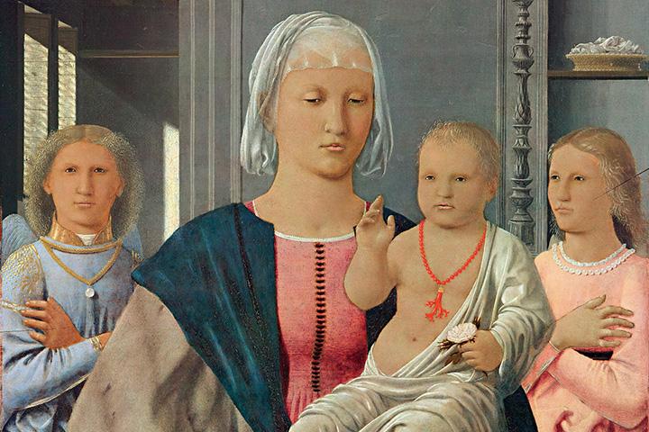 Пьеро делла Франческа. мадонна с младенцем.