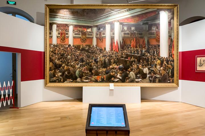 Картина Бродского «Торжественное открытие II Конгресса Коминтерна»