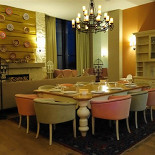 Ресторан Лесное - фотография 1 - 2-й этаж. стол на 10-17 человек.