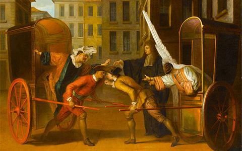 История маскарада в Лувре