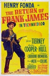 Постер Возвращение Фрэнка Джеймса