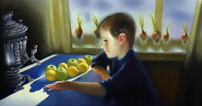 Эдуард Зеленин. Капуста на снегу