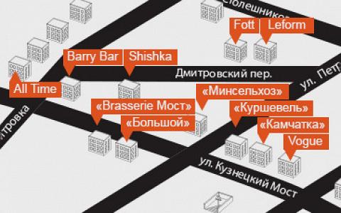 30 главных мест в пешеходной зоне от Страстного бульвара до Театрального проезда