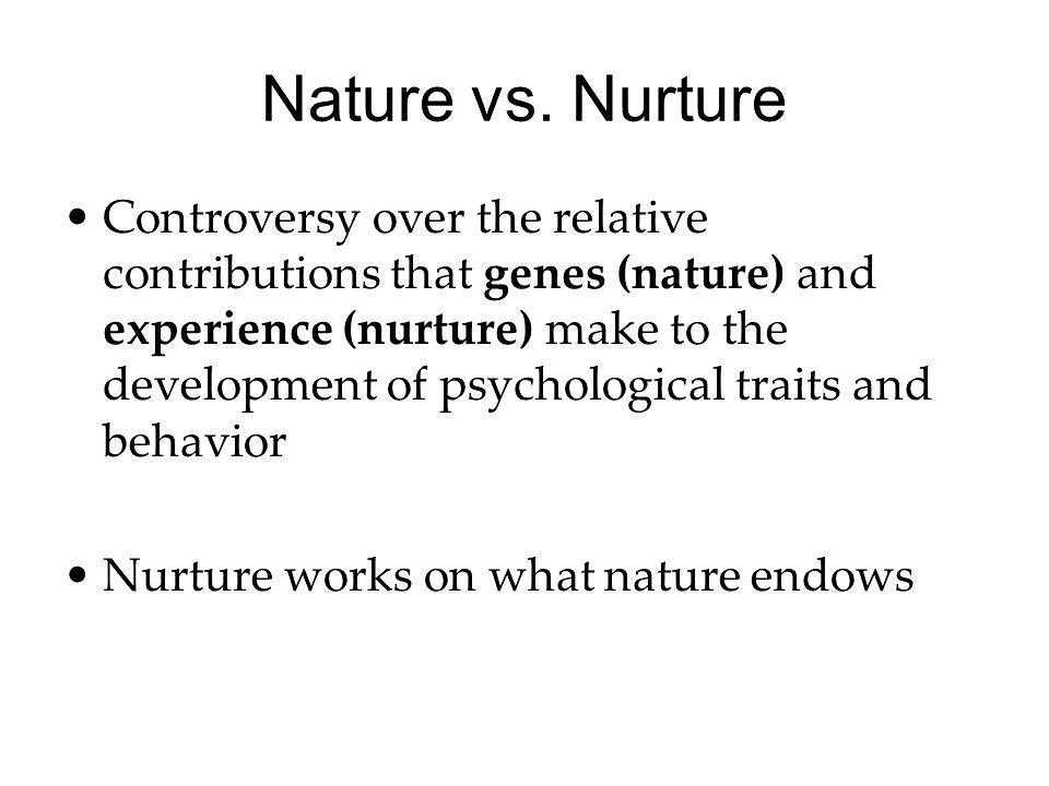 nature vs nurture essay