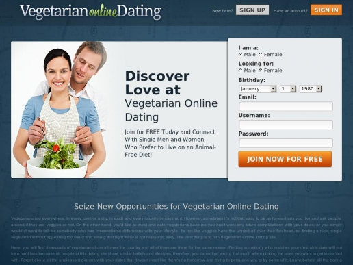 Vegetarian online dating uk