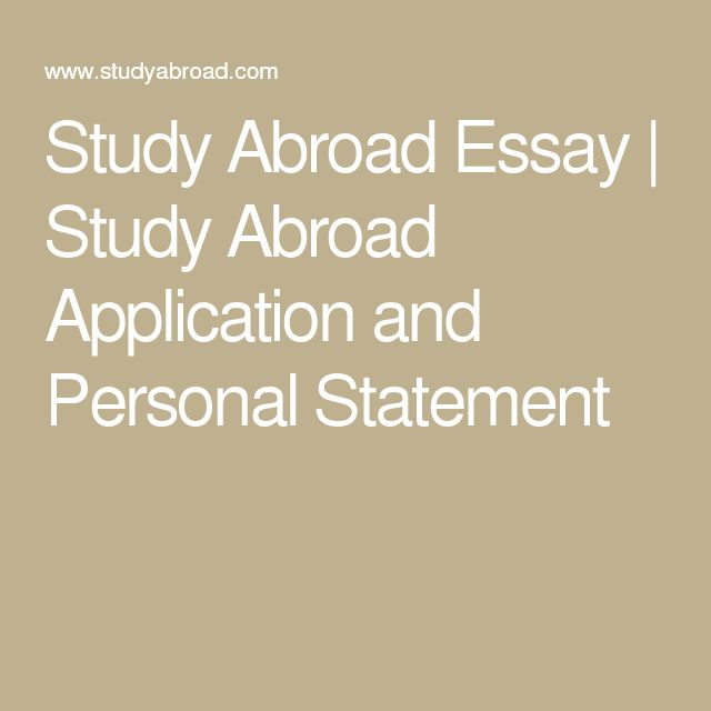 Write my study abroad essay sample