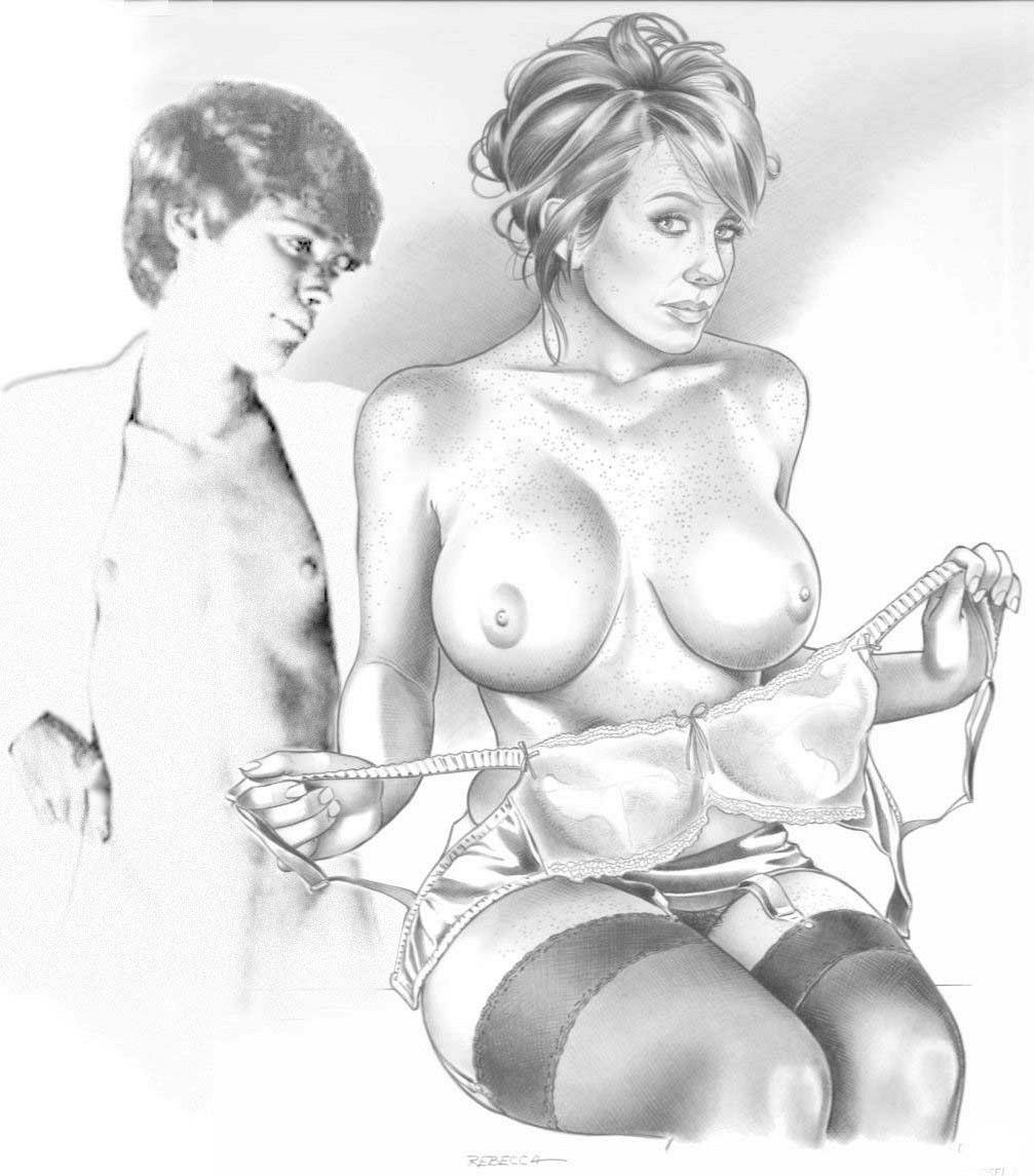 Рисованный карандашом рисунки секс мать и сын
