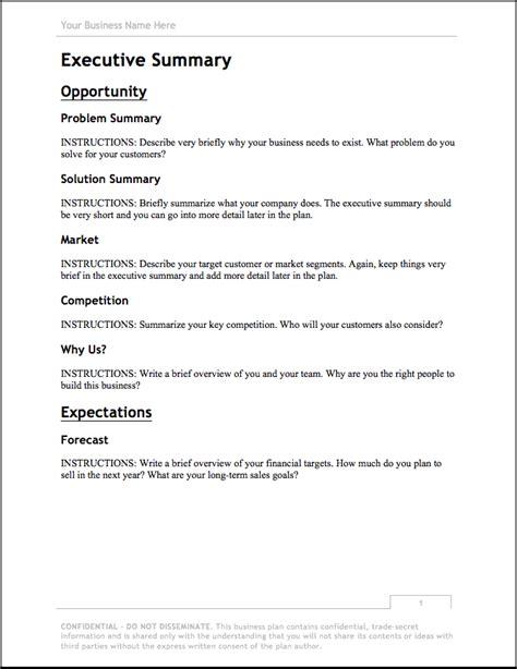 Write my business plan templates free