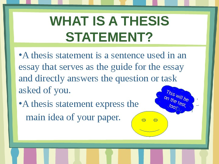 Write my thesis answers